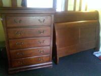 I have a used Queen size Sleigh Bed and Tall 5 drawer
