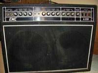 "300 watt EMC G220 guitar amplifier. 2 X 12"" speakers;"