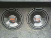 I am selling Two Boss Audio subwoofers in a box. They