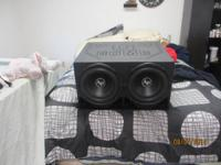 "We have (2) 12"" audio pipe DB series subs. They are"