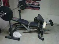 has bench w option for inclined or flat. leg curl