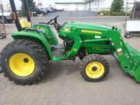 This is a sweet 32hp john deere with a front end loader