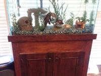 I am selling a 30 Gallon fish tank with a wooden stand