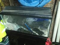 Hi, I have for sale a 30 gallon fish tank with black
