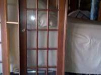 "30""wood paned single door w'/jamb. Please call"