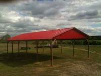 30x60x10 pole barn for $7,900.00, 29 gauge galvalume