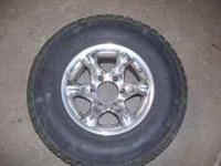 set of four 31-10.50-15 tires with about 75% tread on