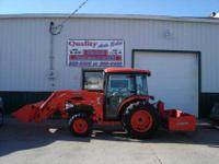 Like New Kubota 4240 MFWD Tractor, Comes With Heavy