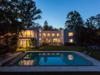 This stunning modernist house is situated on a rare,