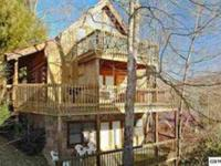 True log cabin with three stories of decks, walk to