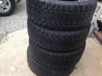 all  4  315/70/17 bf goodrich tires with about 1/2