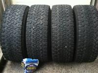 Here are 4 barely used BFG All Terrain tires from a