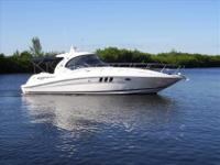 2007 Sea Ray 40 SUNDANCER With its sweeping deck lines