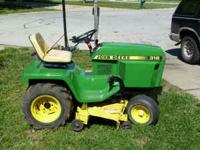 For sale is a 318 John Deer Tractor for 2200 OBO. 2