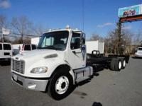 2006 Freightliner M-2 long wheel base tandem chassis.