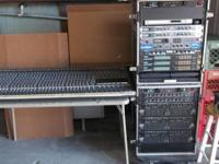Front of Home mixing console utilizing impacts rack and