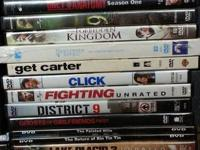 32 DVDs $50 for all or $2 each