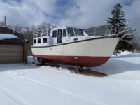 32-foot steel trawler T.D. Vinette. Priced to market