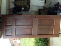 "heavyweight wood outside door. 32""x79 1/2"" one side"