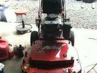 2011 32 inch exmark commercial mower with pistol grips,