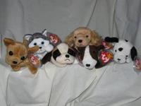Set of 6 Dogs Spunky the Cocker Spaniel, Nanook the