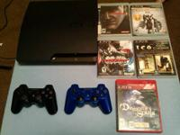 I have a 320gb PS3 Slim with 2 controllers and 5 games.