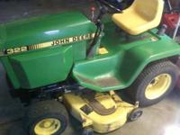 I have for sale a nice 322 john deere rider . This uses