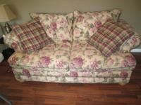 Bassett couch $150.00, love seat $100.00 and forest