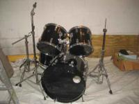 5 piece TAMA Swingstar, one bass drum, two tom toms,
