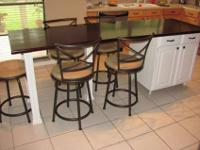 "Large kitchen Island to fix all your needs. 96"" long ,"