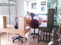 Sublet.com Listing ID 2445322. 2 large desks in room by