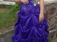 Beautiful purple belle style prom dress worn once. Was