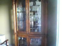 Beautiful Solid Medium Color Wood Armoire/Hutch for