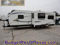 This easy to pull 30ft luxury travel trailer is just