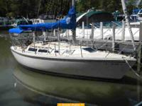 "1988 Catalina sailboat, 48"" draft, sleeps six easily,"