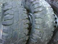 4- 33-12.50-15 super swamper tires on stock steel s-10