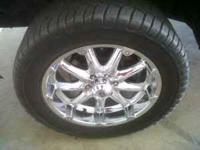 "like new 33"" cooper tires still with great tread and"