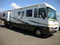 33 ft low profile class A with walk around bed in rear
