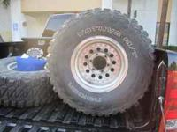 I have A set of 33 inch mud tires with rims the came