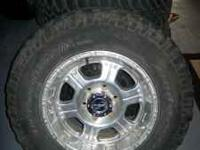 33x12.5 bfg mud terrain radial tires, pro comp wheels,
