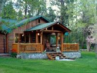 Our darling log house is for sale! It leans on 3 acres