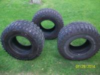 3 PRO COMP 33-12.50 -15 MT TIRES 50 % TREAD LEFT $150.