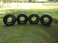 Four 33 x 12.5 x 15 Super Swamper Thornbird Tires; $600