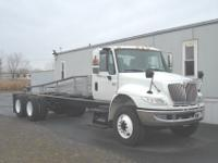 2007 I-H 4400 long wheel base tandem cab and chassis.
