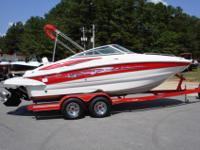 This 22 foot highend Crownline deck boat has it all. It