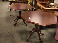 "34"" Dark Wood Octagon Table --- sold separate Get there"