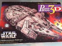 Huge 3D puzzle of the Millennium Falcon from Star Wars.
