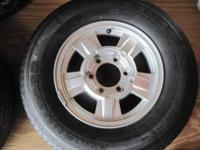 3- Chevy Colorado OEM 15 inch wheels with tires for