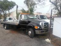 2008 Ford F650 21 Ft Jerr-dan alum Flatbed 6.7 Cummins