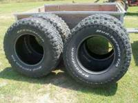 4 used 35-12.50-17 BF Goodrich Mud Terrain They are
